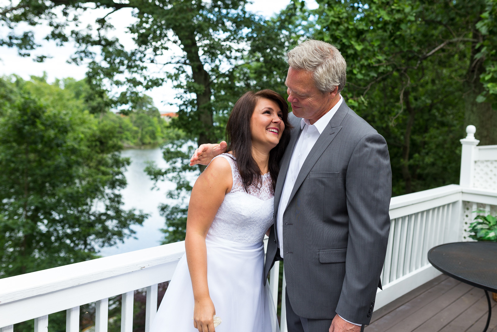 Bride and dad at Annapolis Waterfront Wedding