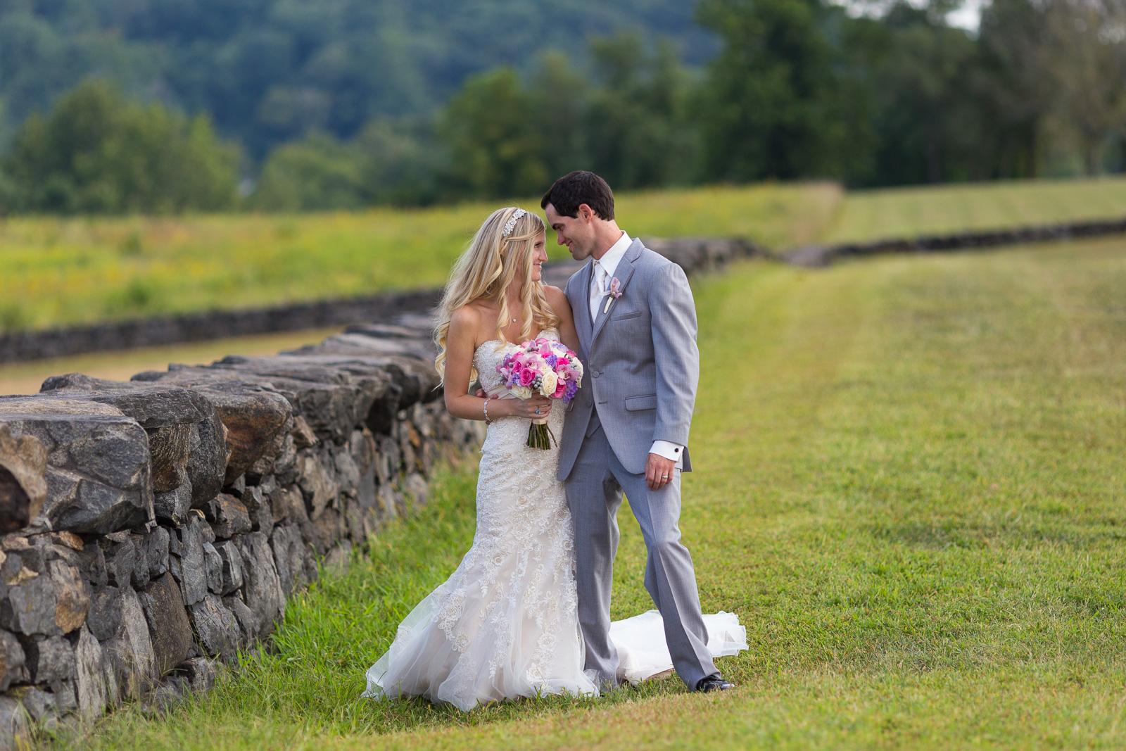 Bride and groom at Brandywine Creek State Park