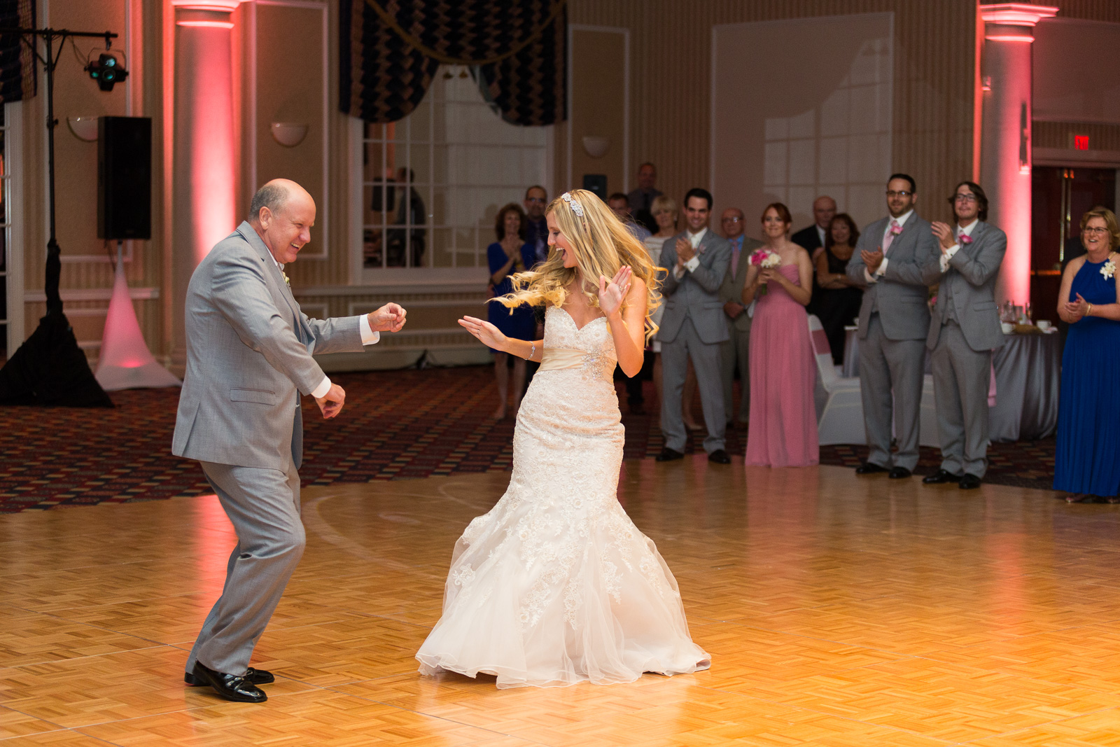 Father daughter dance at the Chase Center