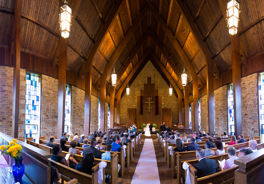 Wedding Ceremony at Haebler Memorial Chapel