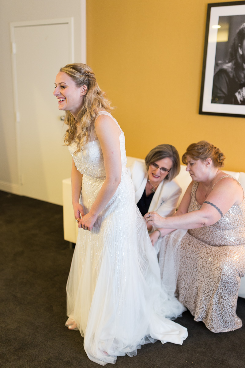 Bride Getting Ready at Brookshire Suites Baltimore