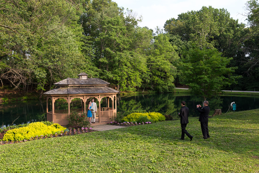 Photos by the pond and gazebo at the Padonia Park Club