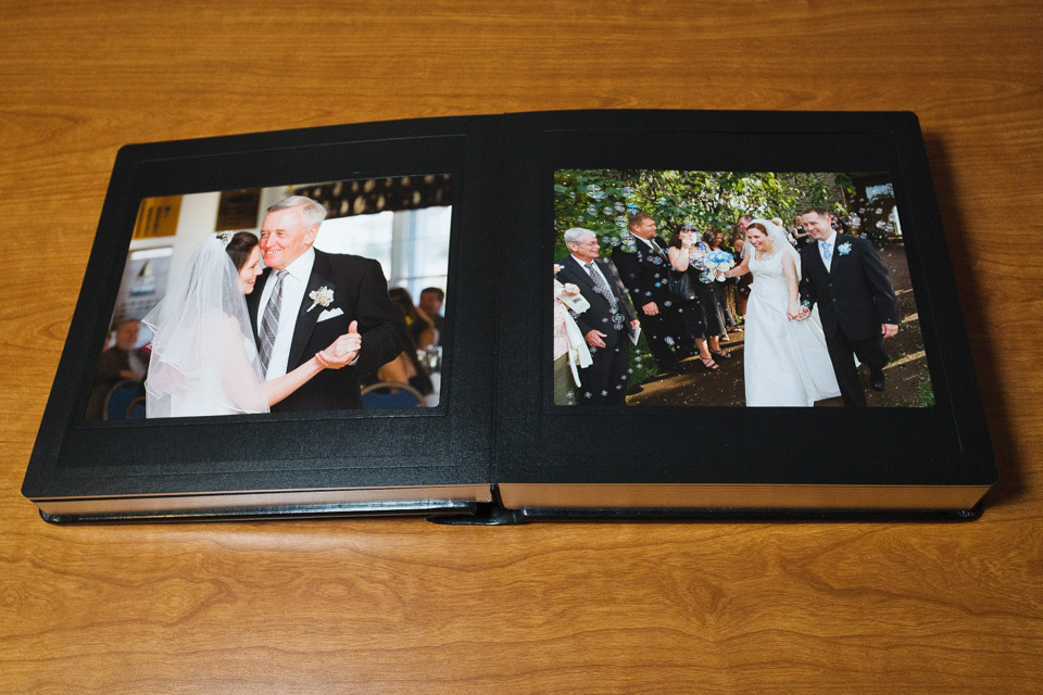 Traditional Wedding Album Open