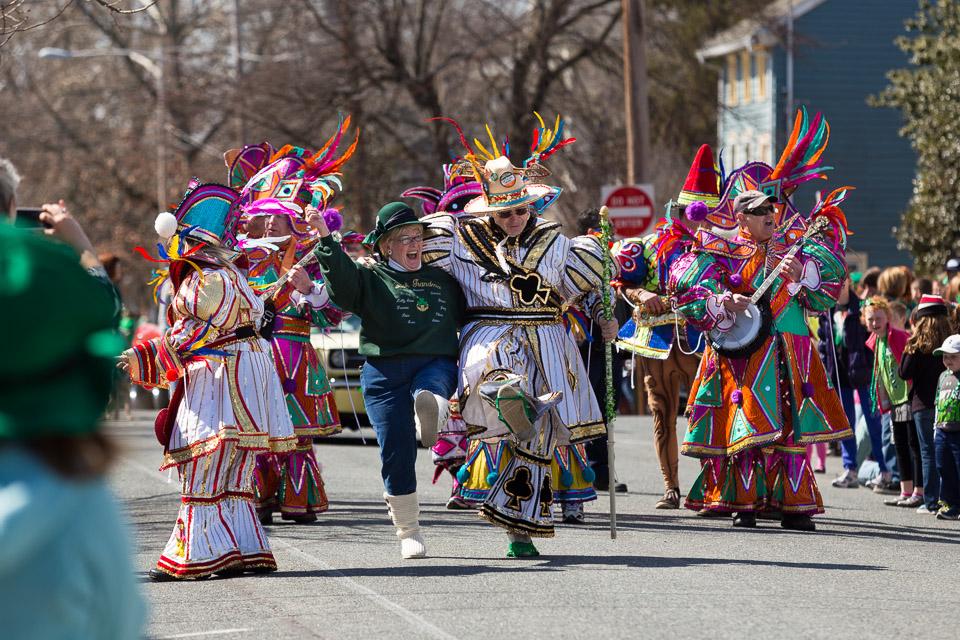 02 Mummers Band at Chesapeake City St. Patrick's Day Parade 2014