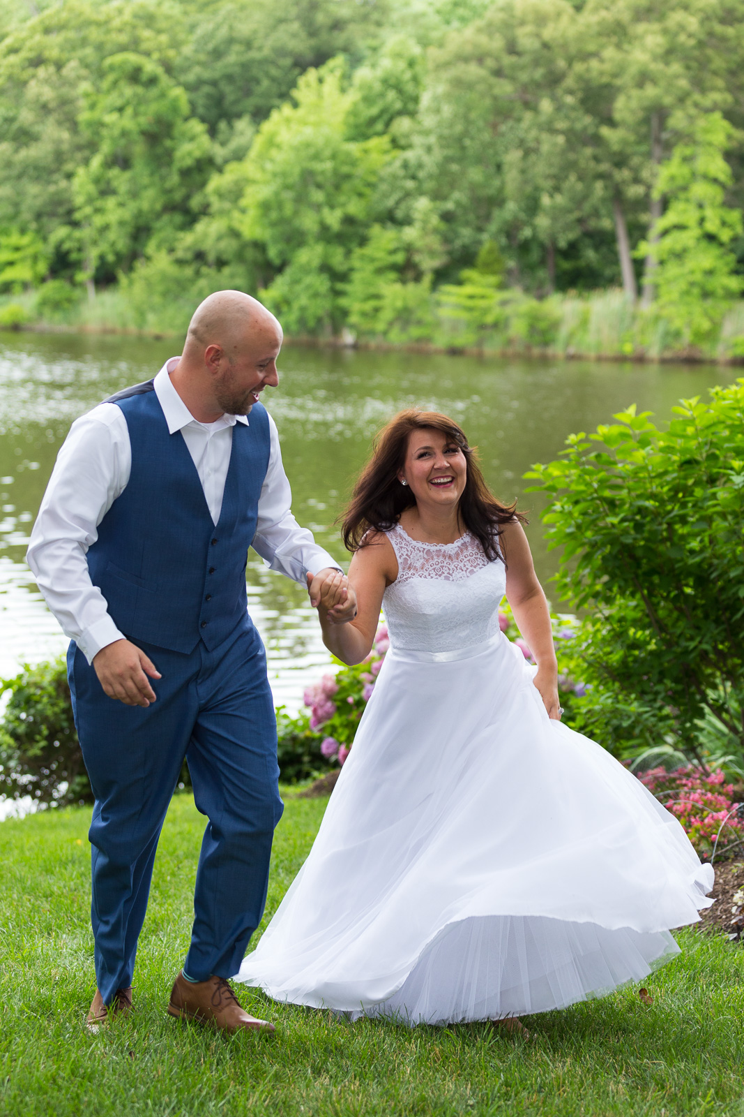 Bride and groom at Annapolis Waterfront Wedding