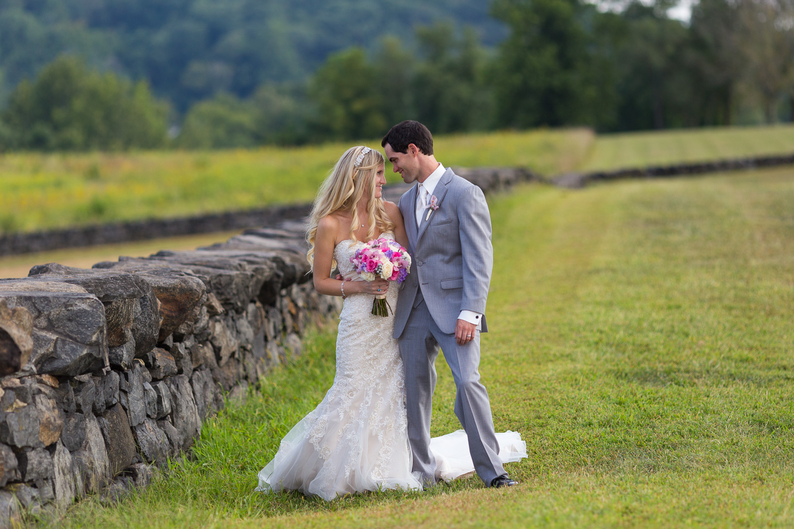 Bride and groom at Brandywine Creek State Park