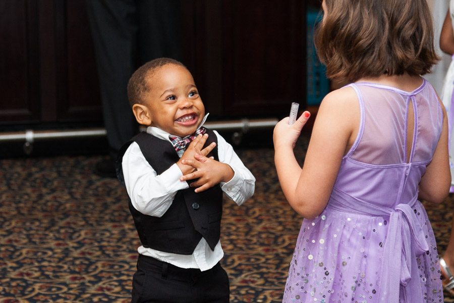 Kids dancing at the wedding