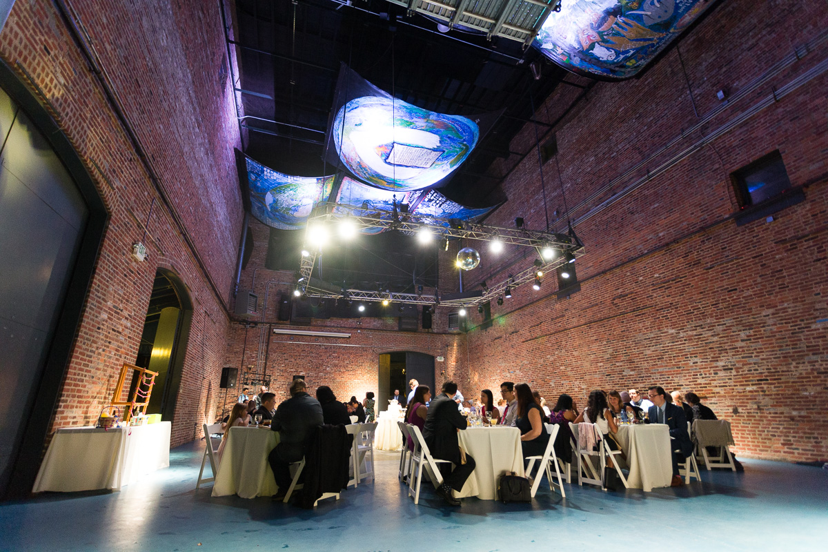 Wedding reception at the American Visionary Museum in Baltimore