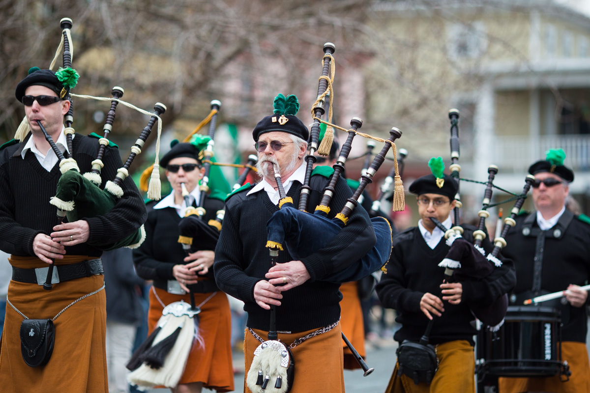 Bag Pipers at the Chesapeake City St. Patricks Day Parade